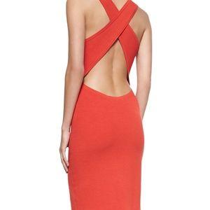 Theory Azarinya Crossback Midi Knit Dress M
